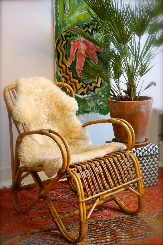 belse 8 rotan bamboe stoel licht by ParadisAmsterdam on Etsy Tara: Bamboo :)