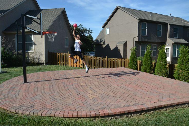 25 best backyard basketball court ideas on pinterest for Sport court ideas
