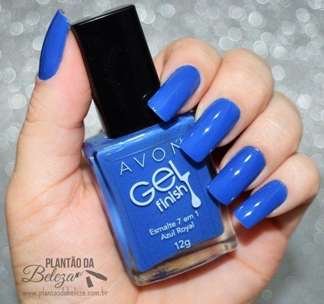 Plantão da Beleza: Azul Royal - Avon Gel Finish + Película da Chiqueza de Unha