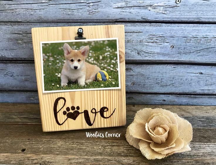 Dog picture frame, Pet frame, Animal lover gift, Dog photo frame, Dog lover gift, Wood picture frame, Picture frame for dogs, Dog decor by WoobiesCorner on Etsy