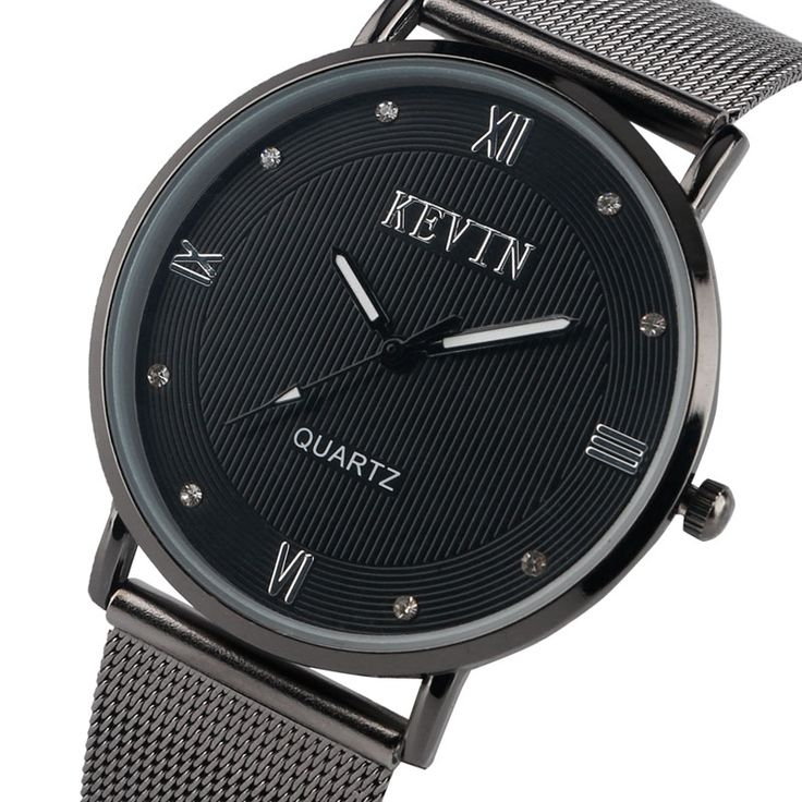 >> Click to Buy << Hot Fashion Wristwatch Black Men's Watches Simple Casual Male Quartz Watch With Stainless Steel Mesh Iron Bracelet #Affiliate