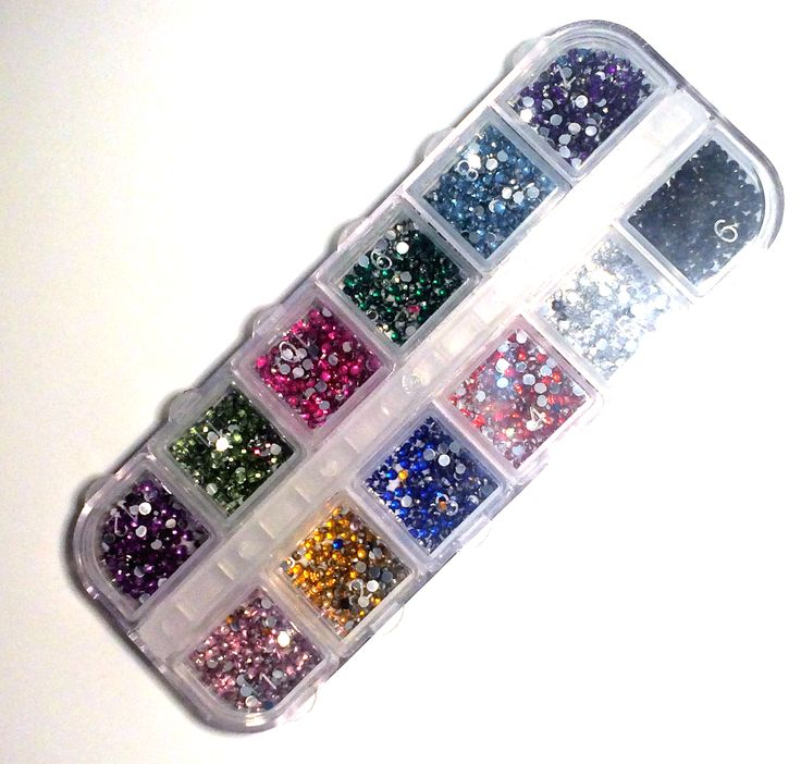 Green Glitter Nail Polish Uk: Nail Art Glitter Gems: Round