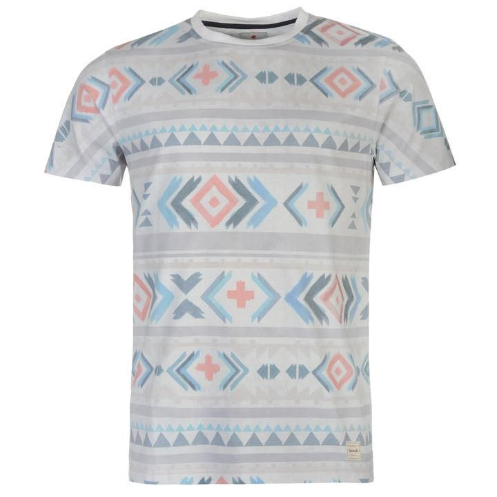 SoulCal Deluxe Aztec T Shirt - SportsDirect.com