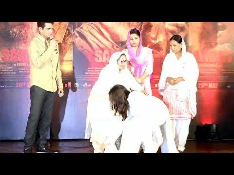 RESPECT ! Aishwarya Rai touches Sarabjit Singh's sister Dalbir Kaur's feet.