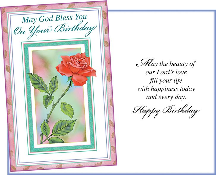 Six religious birthday greeting cards with