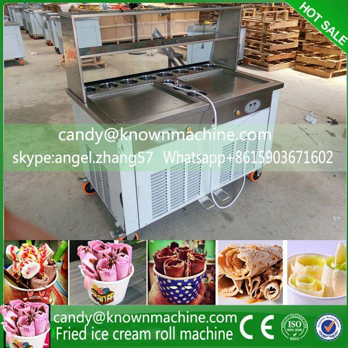 Hot selling CE approved big capacity fry ice cream machine(free ship to Saudi Arabia) #Affiliate