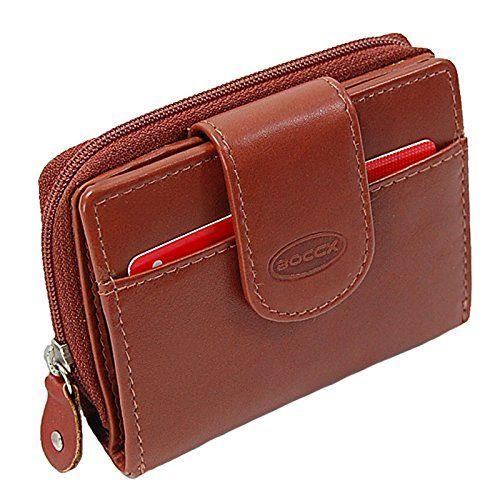 Damen-accessoires Braun Klassisch Geldbörse Leder Portemonnaie Portmone Damen Damenbörse