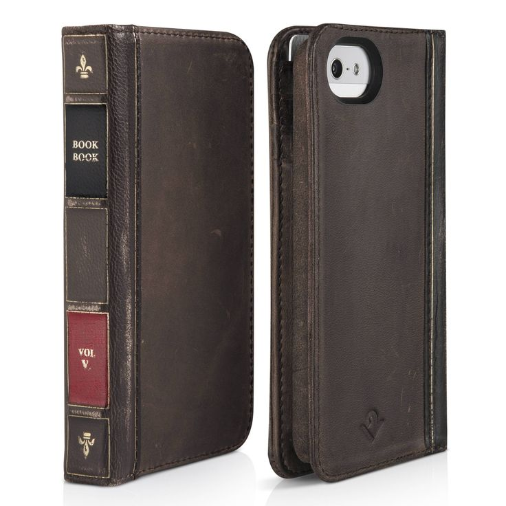 Twelve South BookBook for iPhone 5S - Brown - BookBook for iPhone 5 is the latest instalment in our library of BookBooks. This hybrid wallet and iPhone case mimics a pocket-sized, vintage book. Op...