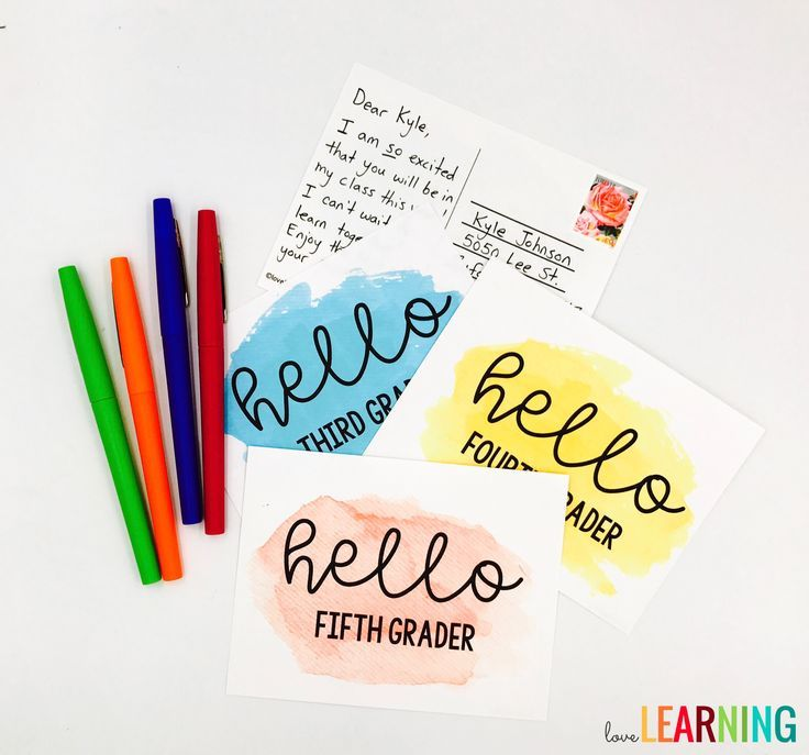 Welcome students to your classroom with these teacher postcard templates! I remember receiving a postcard in the mail from my fifth grade teacher, and it made me feel so special! They are perfect for back to school! Simply print the postcard, write a sweet note to students, and mail it in time for back to school! The templates include kindergarten through fifth grade.