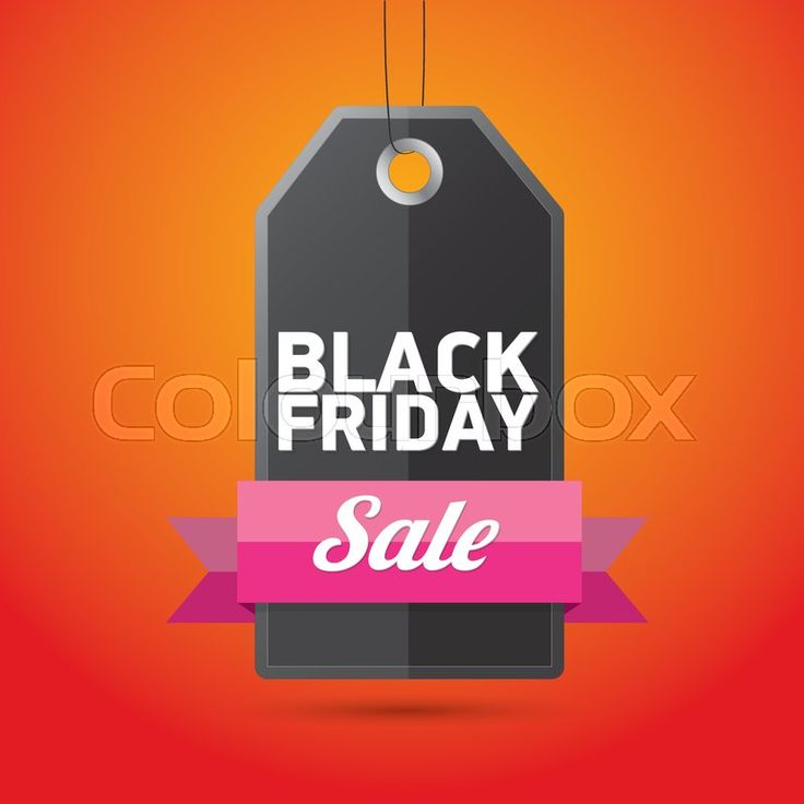 Black Friday, vector graphic.