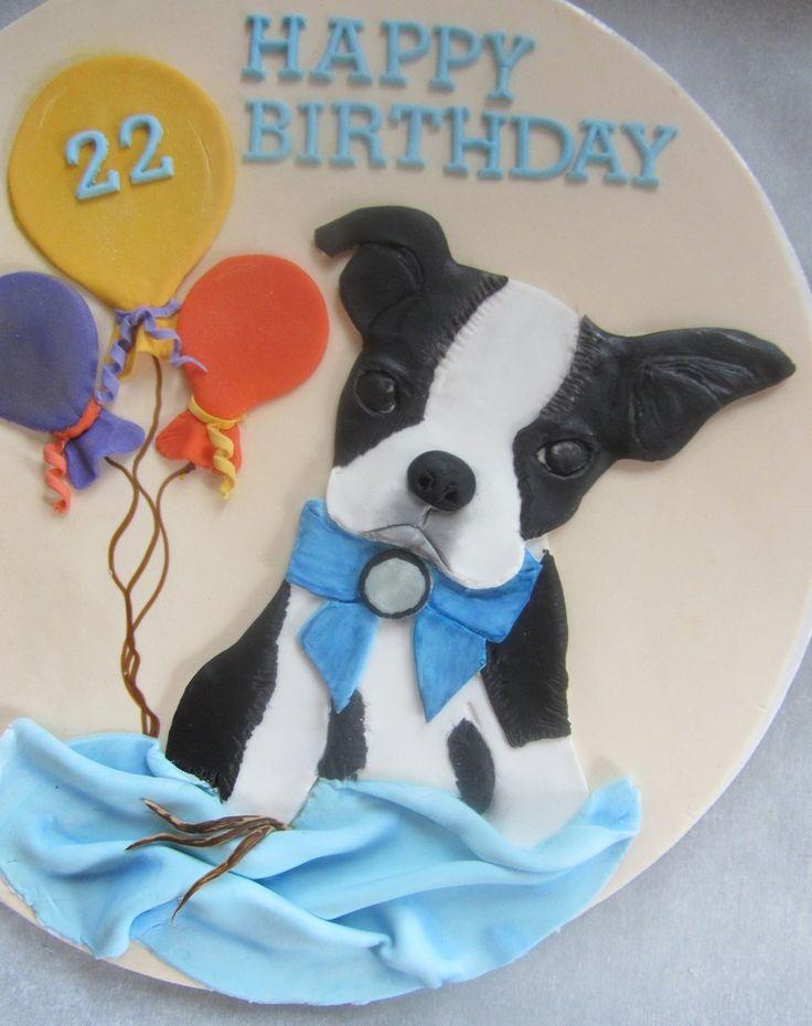 Boston Terrier Cake Topper