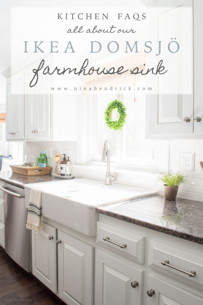 Before and After | All About Our Ikea Farmhouse Domsjo Sink Review // Read my honest review of our ikea domsjo farmhouse sink.