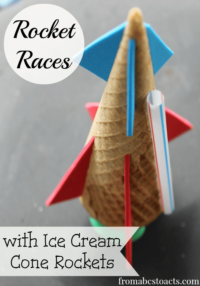 Ice Cream Cone Rocket Races - Think Outside the Toy Box - From ABCs to ACTs