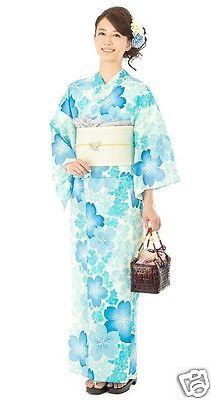 Japanese Yukata Knotted Obi Sandals Set Summer Kimono Flower Cool Fresh Sakura