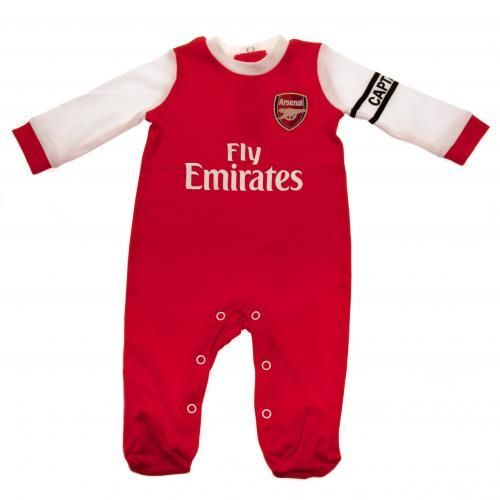 Super cute Arsenal baby sleepsuit in the latest kit design to fit a 0-3 month old. Various baby sizes available. FREE DELIVERY on all of our gifts