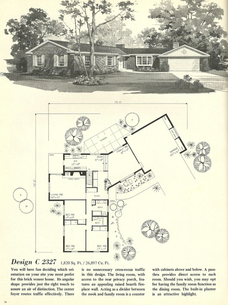17 images about ranch house on pinterest mid century 1960s ranch style house plans