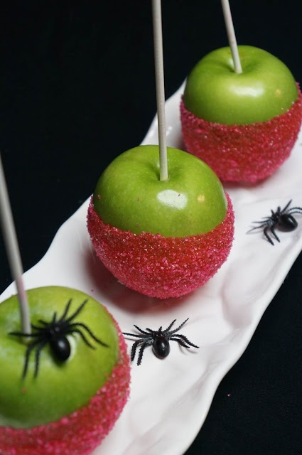 Pink Candy Apples for Breast Cancer Awareness Month AND Halloween!