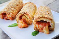 Cannoli di pancarre al forno mozzarella e pomodoro