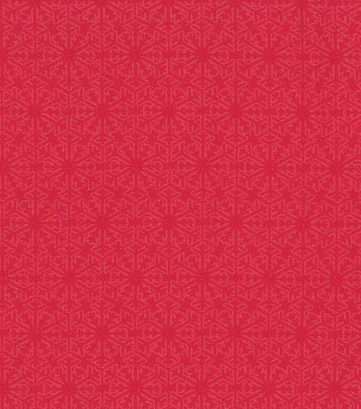 """Keepsake Calico? Holiday Cotton Fabric 43"""" - Red Flakes with Glitter"""