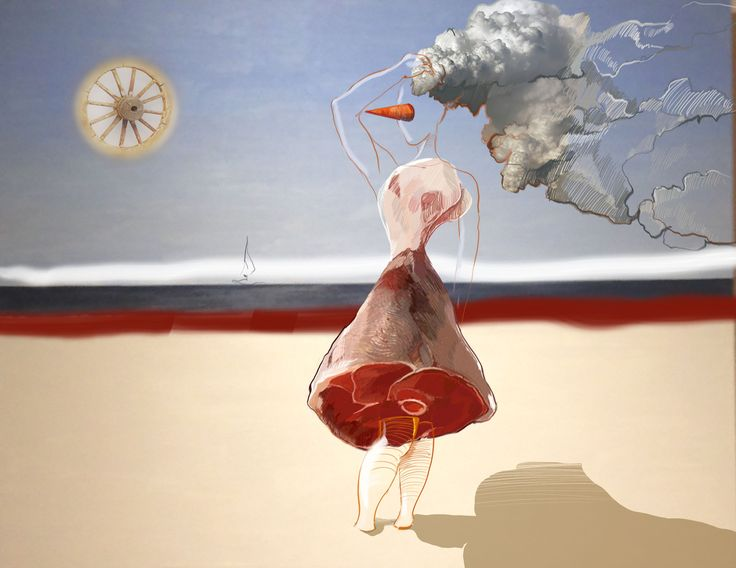 Modern art, graphic. Irina savina illustration