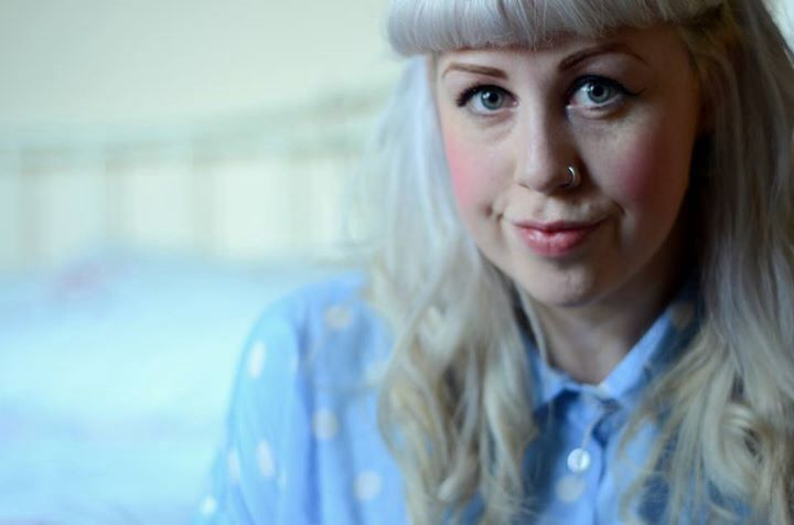 Self portrait pastel polka dot shirt. Taken on nikon d7000 50mm lens