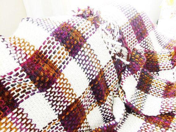 Manta Afgana de lana colorido hecho a mano, Hogar, Mantas, Textil, Lana, Textil, Mantas