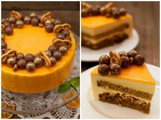 Готовим морковный торт «Беатрис»  Это необычайно вкусный торт! Морковный бисквит с ореховой прослойкой, нежнейшее сливочное суфле в сочетании с медовым! И все это укутано апельсиновой глазурью. Вы обязательно должны его сделать. Конечно немного трудоёмкий, не спорю, но для тех, кто на ты с тортами это не составит труда. Удачи!  Перед тем как начать делать торт с зеркальной глазурью я перечитала все советы и рекомендации знаменитых кулинаров. Всё не так сложно, если соблюдать некоторые…