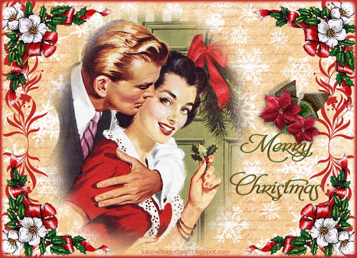 Free classic 1950 toys christmas wallpaper | Navidad retro / Retro Christmas                                                                                                                                                                                 Más