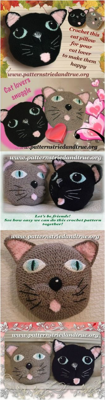 Make the cat lover in your life this snuggly pillow. Easy to follow directions…