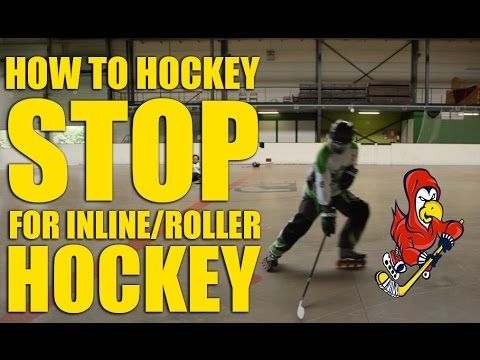 How To Hockey Stop On Inline, Roller Hockey Skates - YouTube