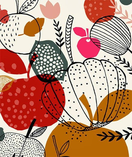 Patterns Inspired By Vintage Fabrics And Mid Century Modern Design