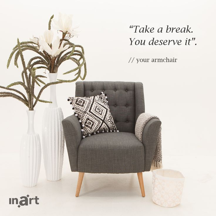 What would your armchair say if it could speak? Τι θα έλεγε η πολυθρόνα σας αν μπορούσε να μιλήσει; http://bit.ly/GreyArmchair #Inart #InartVoice