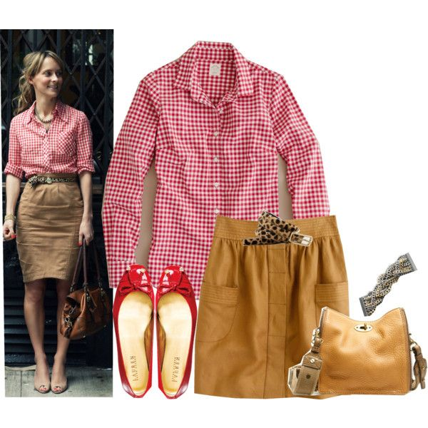 Red Gingham Shirt, created by kittywitty on Polyvore