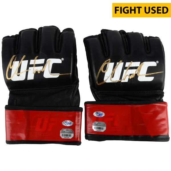 Chris Weidman Ultimate Fighting Championship Fanatics Authentic Autographed UFC 187 Fight-Worn Gloves - Defeated Vitor Belfort via 1st Round Knockout to Retain UFC Middleweight Championship - $24999.99