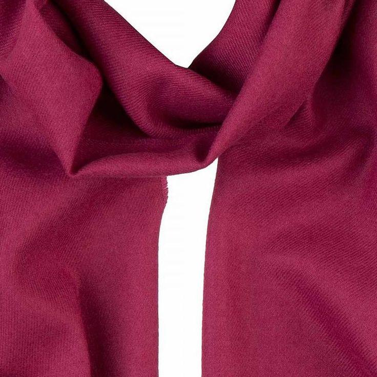 Merino Wool Scarf in Fuchsia