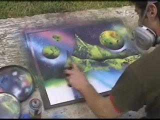 16 best spray art peinture bombe images on pinterest bombshells sprays and painting prints. Black Bedroom Furniture Sets. Home Design Ideas