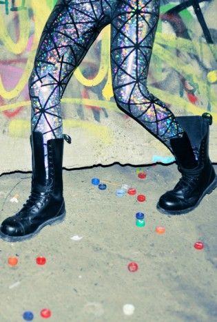 DISCO LEGGINGS,  Bottoms, hologram  printed leggings  crazy leggings, Urban / Streetwear
