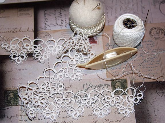 This is pretty - shuttle tatting has proven to be more difficult for me.  I have an easier time with needle tatting.
