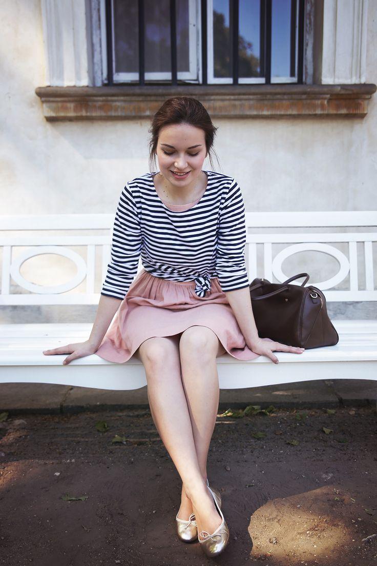 COS Stores Top American Apparel Dress  Furla Bag  ANAKI Paris ballet flats