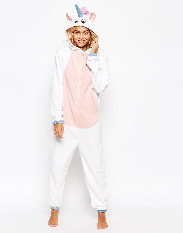 Be your own special snowflake in a unicorn onesie. | 19 Onesies That Will Keep You Cozy All Winter