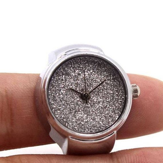 Elastic Stainless Steel Ring  Watch finger ring watch