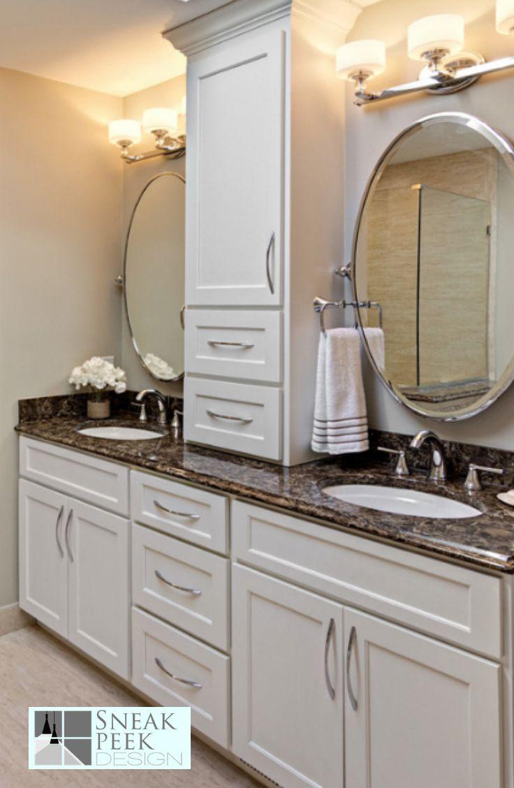 Elegant Master Bathroom Design White Cabinets Spa Master Bathroom