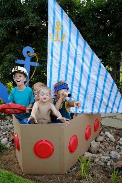"Photo 40 of 53: Sailor/nautical / Birthday ""Anchors Away, It's Jake & Noah's Birthday!"""