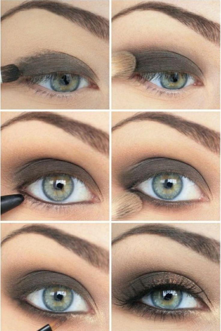 Effekvolles Make-up für blaue Augen – tolle Schminktipps #betonen #smokeyeyes…