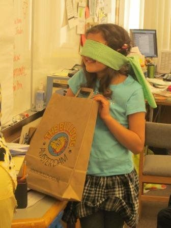Paperbag Poetry Game to introduce poetry.  This could also be used for adjectives