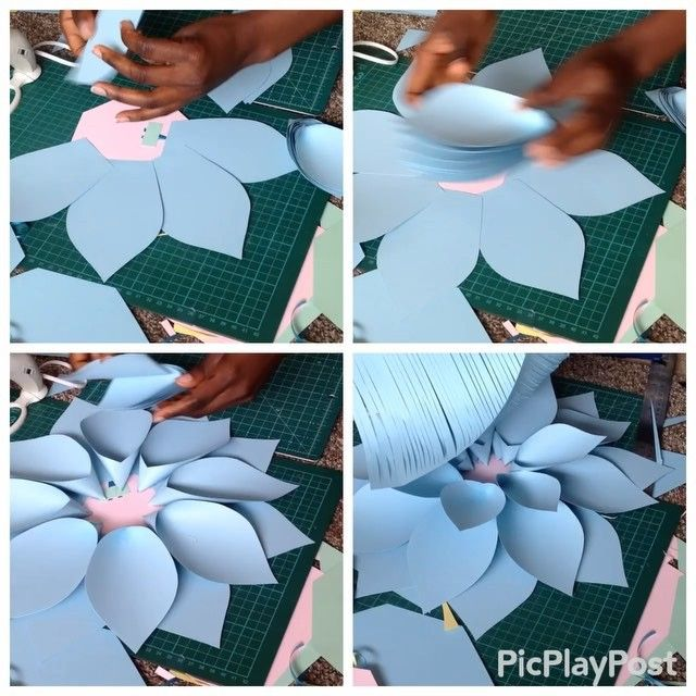 ✂️✏️T U T O R I A L ✂️✏️ Part 2 #paperflowers #paperflowercenters #tutorial #paperflowertutorial