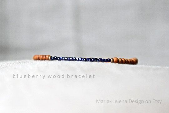 'blueberry wood' mens small bead bracelet - MariaHelenaDesign