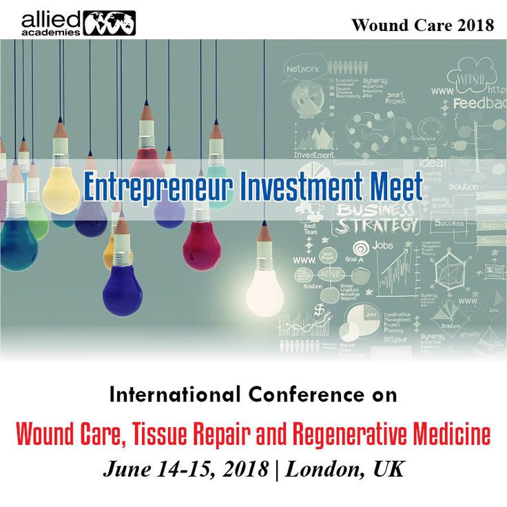 Entrepreneur Investment Meet #WoundCare provides nice avenues for Investors seeking for investment opportunities and increasing their business horizons.  Our conference is attended by participants from over forty countries and attracts a #motivating combination of educational researchers, #practitioners and people who are engaged in numerous aspects of innovations in Wound Care analysis thereby providing lots of networking opportunities and new #information.