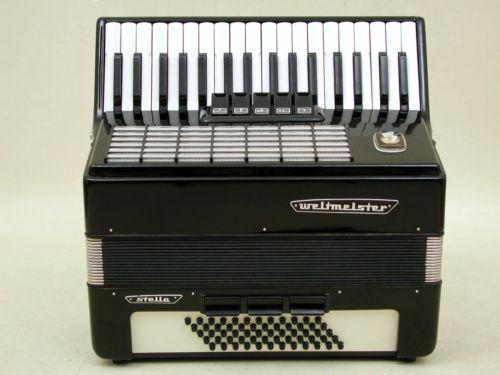 Excelente-Piano-Aleman-acordeon-Weltmeister-Stella-60-Bass-Con-Funda