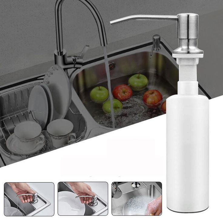 300ml Stainless Steel Sink Mounted Liquid Soap Dispenser Kitchen Bathroom Bottle Kitchen Soap Dispenser Stainless Steel Kitchen Sink Sink Countertop